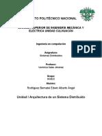 Unidad I Arquitectura de Un Sistema Distribuido