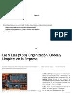 Las 9 Eses (9 S's). Organización, Orden y Limpieza en la Empresa _ Cemiot Internacional