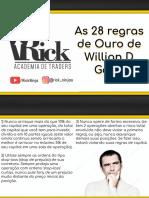 As 28 Regras de Ouro de Willian D Gann