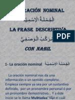 oracion nominal y frase descriptiva
