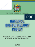 Tanzania Biotecchnology_Policy