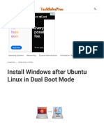 Install Windows after Ubuntu Linux in Dual Boot Mode _ TechSolvePrac
