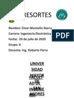 INFORME LABORATORIO DE FISICA RESORTES
