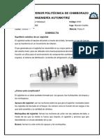 Equilibrio estático y dinámico del cigueñal del motor
