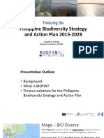 Financing the Philippine Biodiversity Strategy and Action Plan