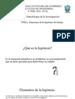 La función de la hipótesis