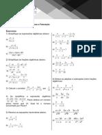 Lista Frações Algébricas