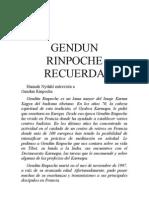Gendun Rinpoche recuerda