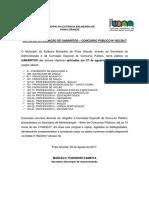 Edital Gabaritos - CP 002-2017