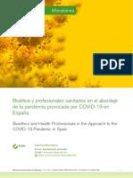 Bioetica y profesionales sanitarios en la COVID-19