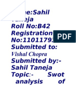SWOT analysis 4th assi.