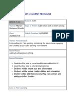 math 7 lesson plan