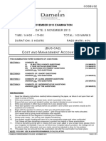 (COSBUS2) (BUS-CA2) Cost and Management Accounting 2 (Nov2013) v5 (1)