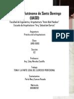 TEMA V LA PARTE LEGAL DEL EJERCICIO PROFESIONAL