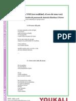 6. La voz (en realidad, el eco de una voz). Selección de poemas realizada por el propio autor (Antonio Martínez i Ferrer).
