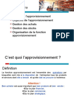 APPROVISIONNEMENT