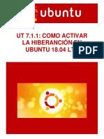 UT7.1.1 - Como activar la Hibernación en Ubuntu Linux 18.04 LTS