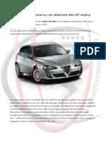 Alfa 147 - Dotazioni e Differenze tra i vari allestimenti della 147 restyling