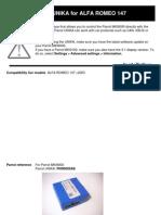 Alfa 147 - Parrot Unikacompatibility_pdf