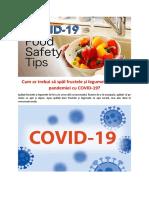 Cum ar trebui să spăl fructele și legumele în timpul pandemiei cu COVID-19?