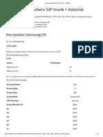Samsung OfficeServ SIP trunk + Asterisk