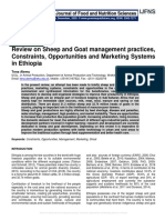 Review on Sheep and Goat management practices, Constraints, Opportunities and Marketing Systems in Ethiopia