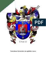 Venezolanos destacados con apellidos Vascos