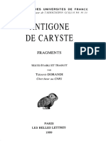 Dorandi, Antigone de Caryste. Fragments (1999)