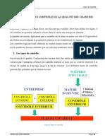 Chap6 - Procédure de contrôle de la qualité sur chantier