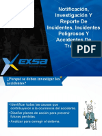 2. Notificación, Investigación y reporte de Incidentes, Incidentes peligrosos y accidentes de trabajo