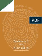 Glosario de Grabado Glossario Tecniche d Incisione