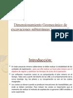Dimensionamiento Geomecánico de excavaciones subterráneas