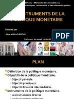 LES INSTRUMENTS DE LA POLITIQUE MONETAIRES