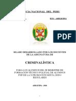 SILABUS CRIMINALISTICA ETS 2010
