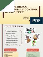 5 TIPOS DE RIESGO, CONTROLES, IPERC