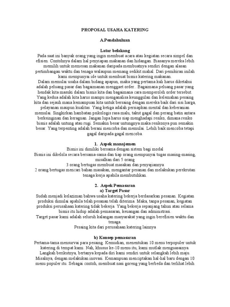 Contoh Proposal Inovasi Produk Makanan Brad Erva Doce Info