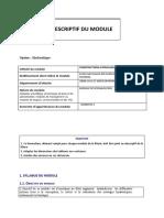 DESCRIPTIF DU MODULE hydrauliques