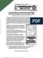 FBI counterintelligence bulletin