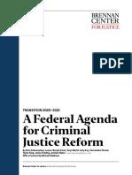 A Federal Agenda for Criminal Justice Reform