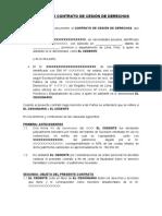 MODELO DE CONTRATO DE CESIÓN DE DERECHOS