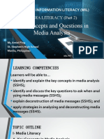 Key Concepts and Questions to Ask in Media Literacy