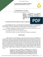 Requerimento para criação de Comissão Covid 19 na CLDF