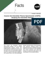 NASA Facts Cosmic Hot Interstellar Plasma Spectrometer (CHIPS) Studying the Interstellar Medium