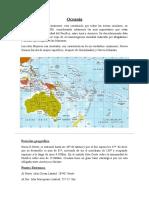 Trabajo de los continentes Oceania