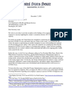 Warren Letter to HHS on Testing Investigations