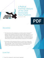 A Radical Feminist Analysis of the 2020 Democratic Party Platform