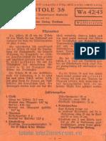 Waffeltafeln 42-43 Die Pistole P38 (Mai 1942)