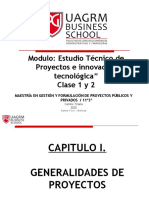Estudio técnico de Proyectos e Innovación Tecnológica