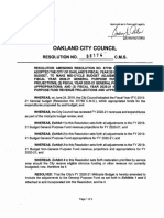 City Of Oakland Budget Resolution Fiscal Year 2020-2021 Mid-Cycle Budget Adjustments