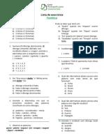 Listas de exercícios - Fonética